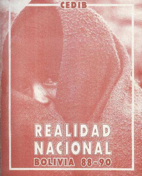 Realidad Nacional. Bolivia 88-90. Colección anual