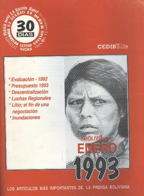 30 Días. Bolivia en enero 1993