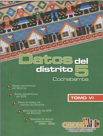 Datos de la Zona Sur de Cochabamba VI: Distrito 5