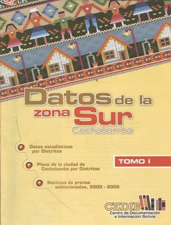 Datos de la zona sur de Cochabamba