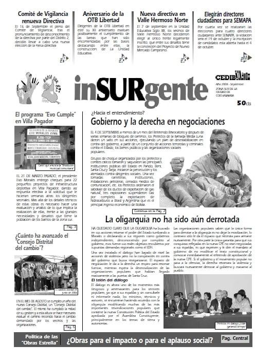 inSURgente, septiembre 2008