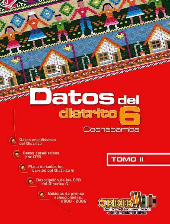Datos de la zona sur. Distrito 6