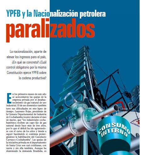 YPFB y la Nacionalización petrolera paralizados (Petropress 15, 6.09)
