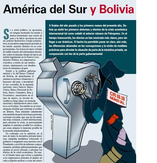 América del Sur y Bolivia frente a la crisis (Petropress 15, 6.09)