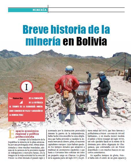 Breve historia de la minería en Bolivia (Petropress 23, enero 2011)