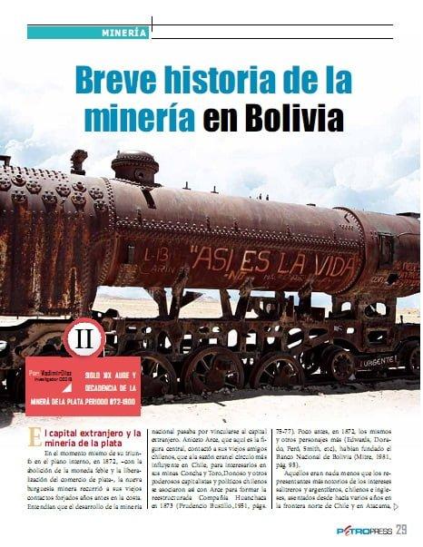 Breve historia de la minería en Bolivia (Petropress 27, 11.11)