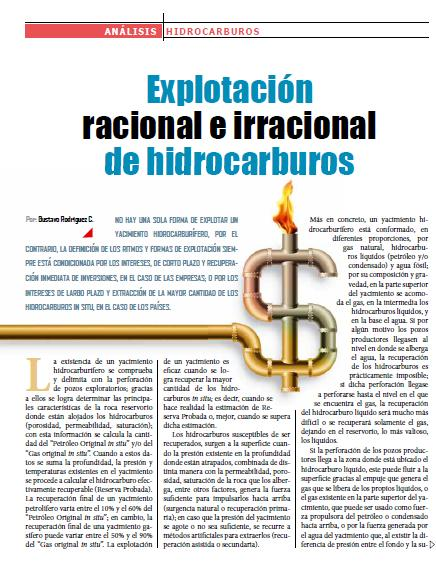 Explotación racional e irracional de hidrocarburos (Petropress 23, 1.11)