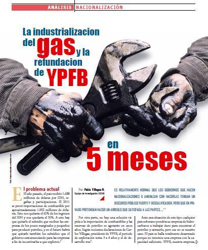 La industrializacion del gas y la refundacion de YPFB en 5 meses (Petropress 24, Especial gasolinazo, 2.11)