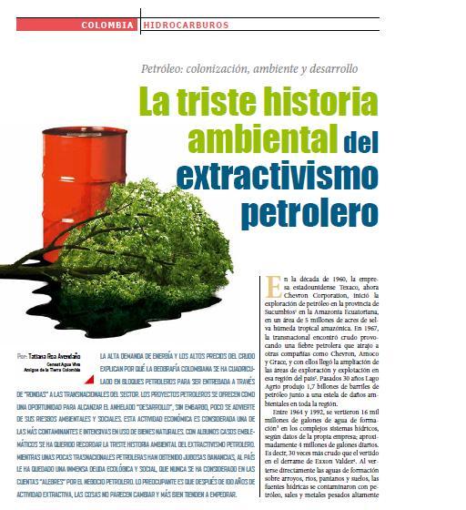 La triste historia ambiental del extractivismo petrolero (Petropress 25, junio 2011)