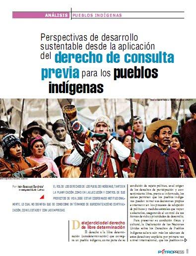 Perspectivas de desarrollo sustentable desde la aplicación del derecho de consulta previa para los pueblos indígenas (Petropress 26, 9.11)