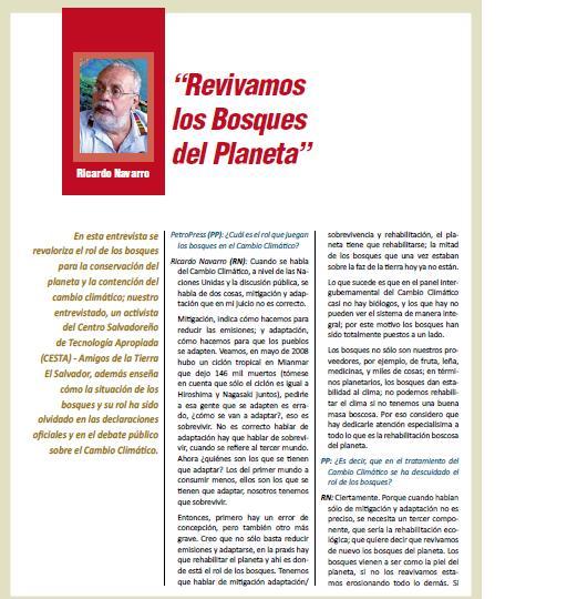 """""""Revivamos los bosques del planeta"""" (Petroress 20, 6.10)"""