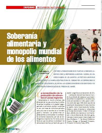 Soberanía alimentaria y monopolio mundial de los alimentos (Petropress 26, 9.11)