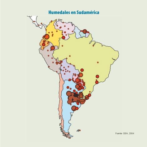Humedales en Sudamérica