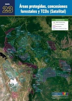 Áreas protegidas, concesiones forestales y TCOs (satelital)