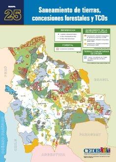 Sanemiento de tierras, concesiones forestales y TCOs