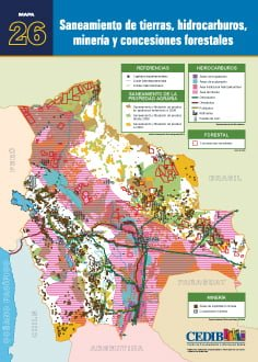 Saneamiento de tierras, hidrocarburos, minería y concesiones forestales