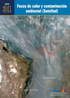 Focos de calor y contaminación ambiental (satelital)