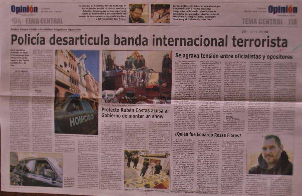Policía desarticula banda internacional terrorista (17-04-2009)