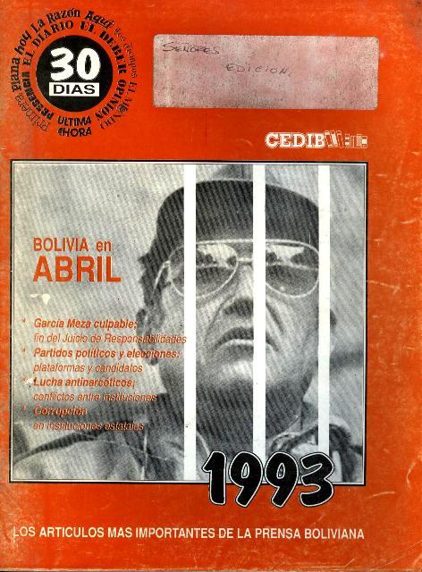 30 Días. Bolivia en abril 1993