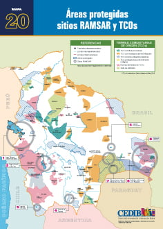 Áreas protegidas sitios Ramsar TCOs
