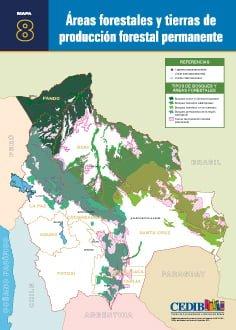 Áreas forestales y tierras de producción forestal permanente