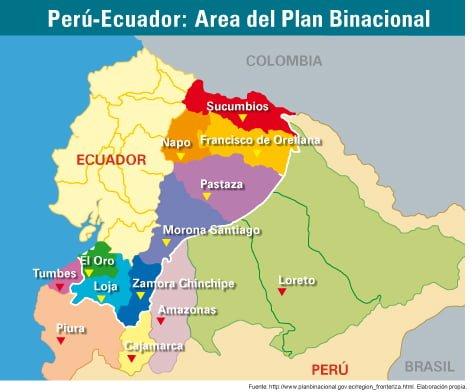 Perú-Ecuador: Área del plan binacional