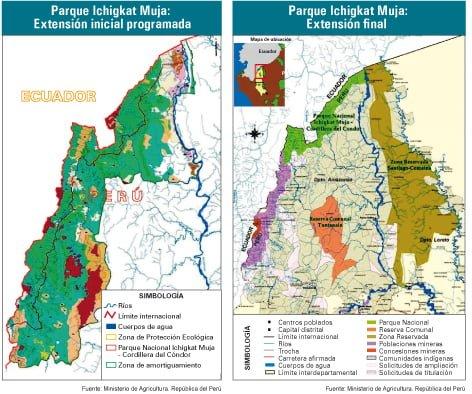 Parque Ichigkat Muja: Extensión inicial programada / extensión final