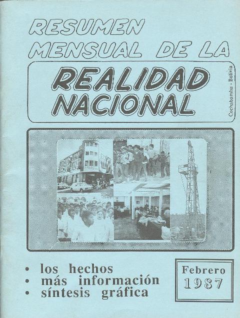 Resumen de la Realidad Nacional (Febrero 1987)