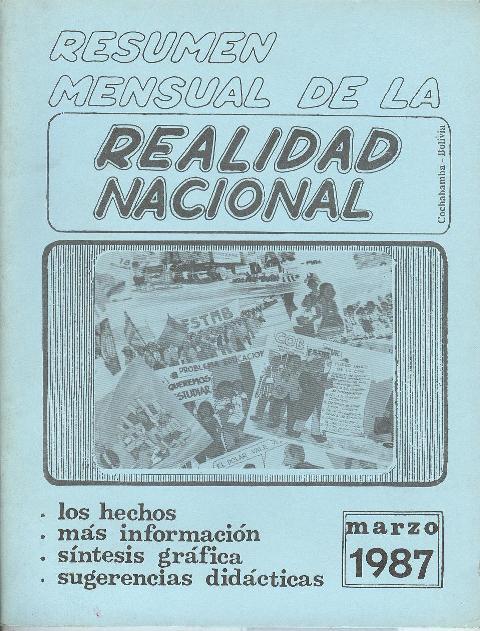 Resumen de la Realidad Nacional (Marzo 1987)