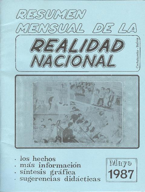 Resumen de la Realidad Nacional (Mayo 1987)