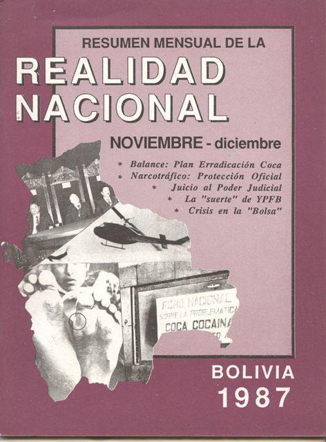 Resumen mensual de la Realidad Nacional (Noviembre – Diciembre 1987)