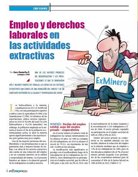 Empleo y derechos laborales en las actividades extractivas (Petropress 30, 1.13)