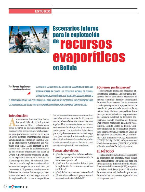 Escenarios futuros para la explotación de recursos evaporíticos en Bolivia (Petropress 30, 1.13)