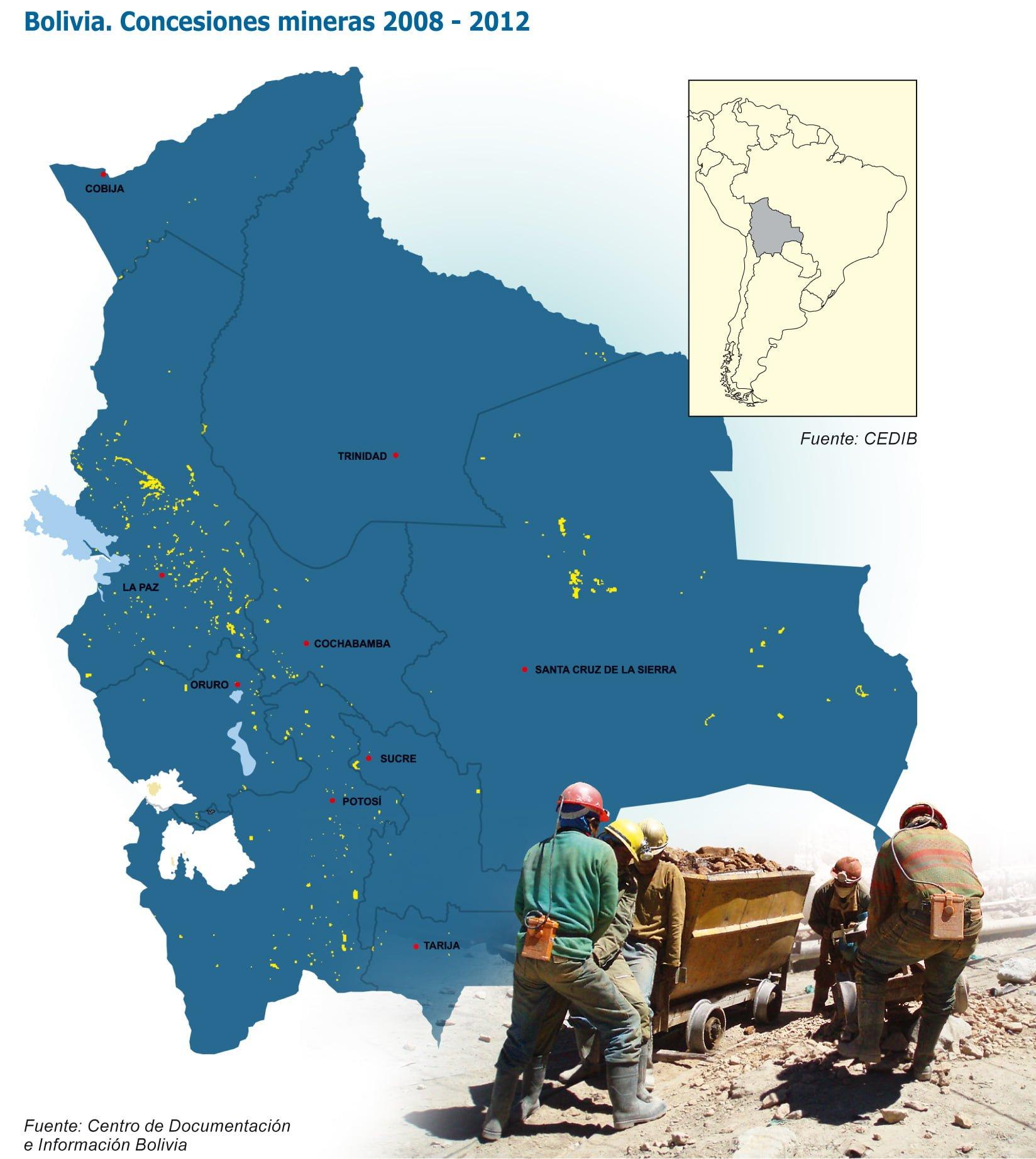 Bolivia Concesiones Mineras 2008-2012 (Petropress 30, 1.13)