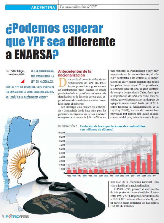 ¿Podemos esperar que YPF sea diferente a ENARSA? (Petropress 29, 8.13)