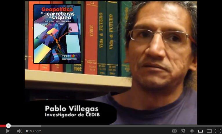 """Entrevista Pablo Villegas sobre """"Geopolítica de las carreteras"""""""