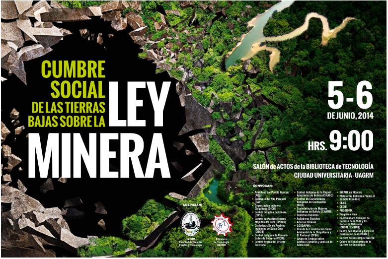 La Coordinadora de Defensa de la Vida y los Recursos Naturales ante la ley de Minería  promulgada por el Gobierno del MAS