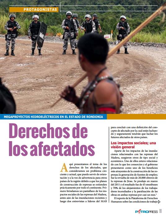 Megaproyectos hidroeléctricos en el estado de  Rondonia: Derechos de los afectados (Petropress 33, 10.14)