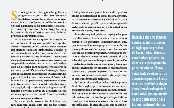 La solución a la caída de las materias primas: producir más materias primas (Petropress 34, 3.15)