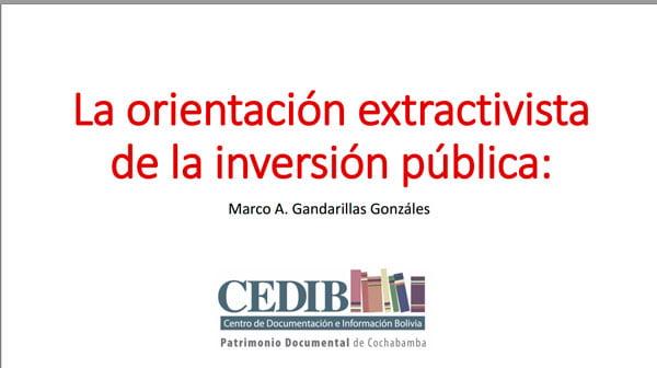 01 La orientación extractivista de la inversión pública