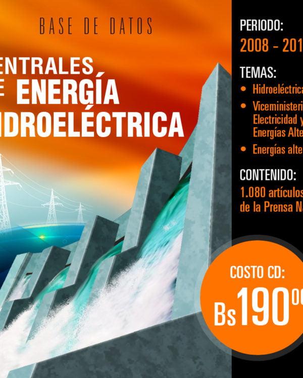 Centrales de energía hidroeléctrica: Base de datos hemerográfica