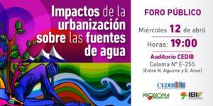 urbanización y agua