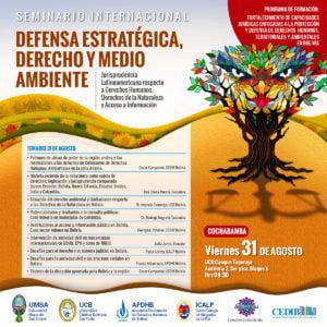 """Seminario Internacional """"Defensa estratégica, derecho y medio ambiente"""""""