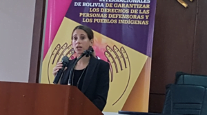 Maria Noel Leoni Directora del Programa Cono Sur y Bolivia del Centro por la Justicia y el Derecho Internacional – Center for Justice and International Law-CEJIL