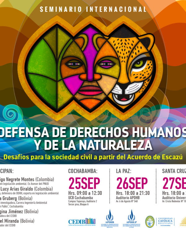Seminario Internacional: Defensa de derechos humanos y de la naturaleza