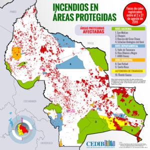 Incendios y áreas protegidas 2019