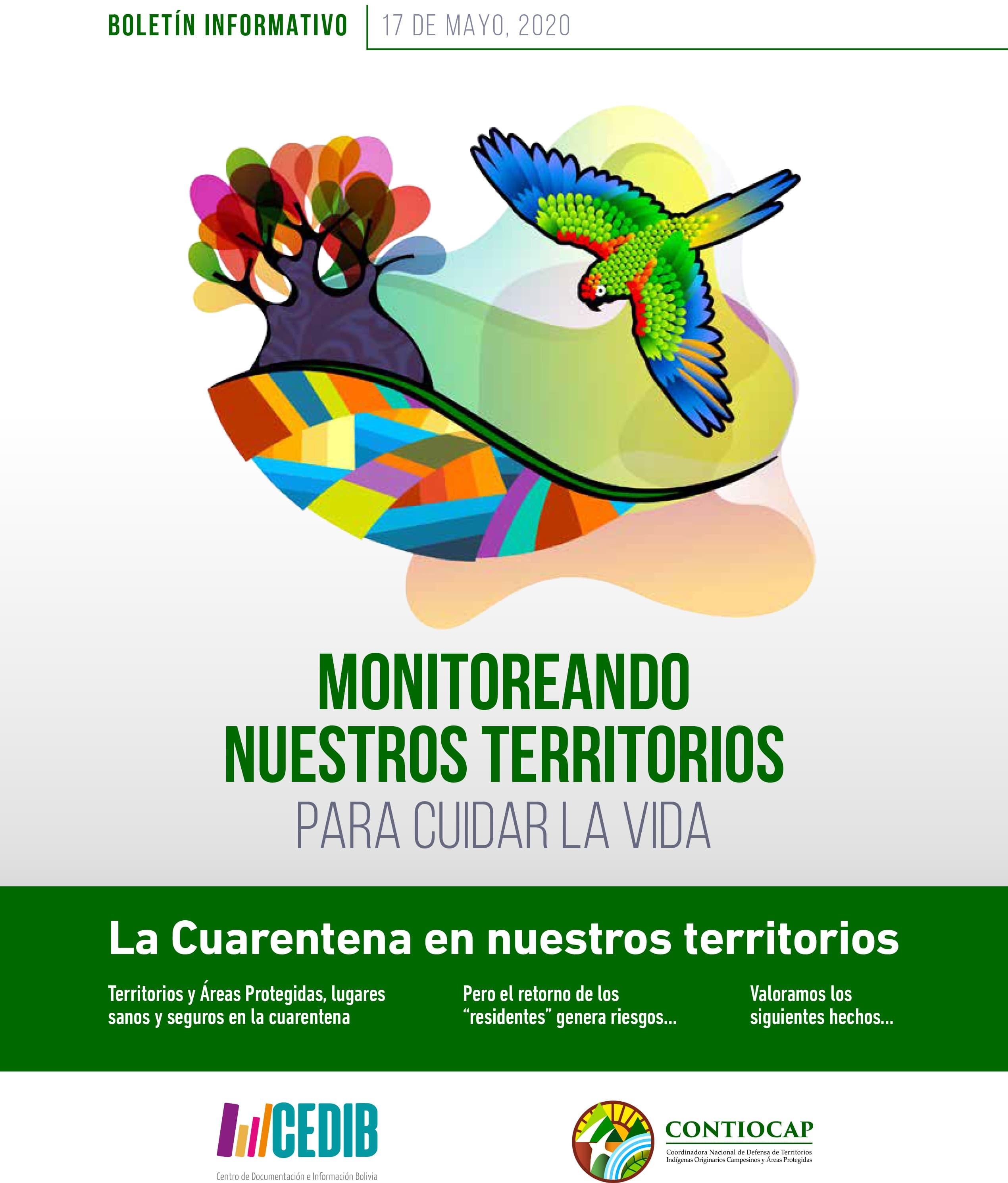 Monitoreando nuestros territorios para cuidar la vida – Boletín CONTIOCAP #1