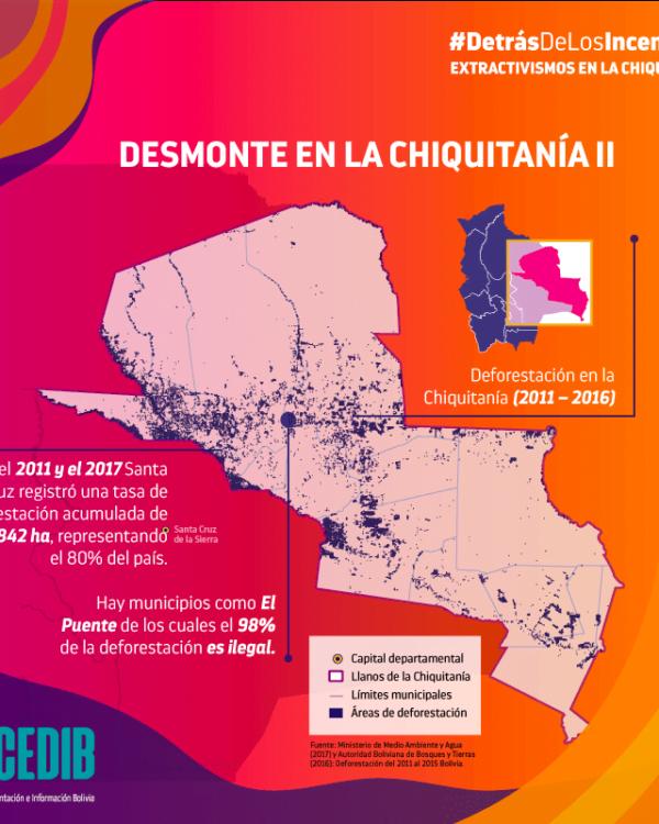 Detrás de los incendios: Madera y deforestación en la Chiquitanía