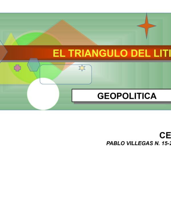 Geopolítica del tríangulo del Litio (15.2.21)