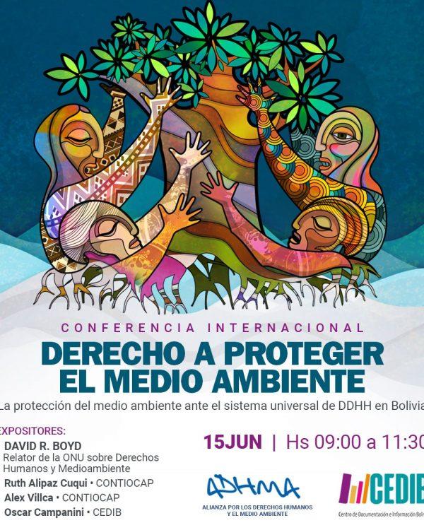 Conferencia internacional. Derecho a proteger el medio ambiente
